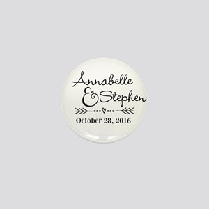 Couples Names Wedding Personalized Mini Button