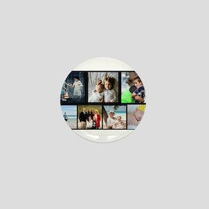 7 Photo Family Collage Mini Button