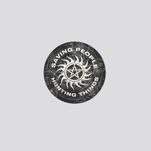 Supernatural Black Mini Button