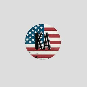 Kappa Alpha Order Flag Mini Button