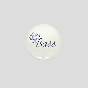 Bass- Flower Mini Button