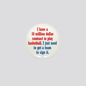 Basketball Contract Mini Button