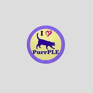 Purrple Mini Button