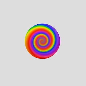 Colorful Spiral Mini Button