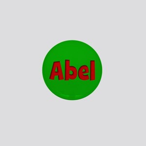 Abel Green and Red Mini Button