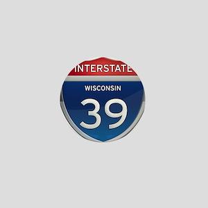 Interstate 39 Mini Button