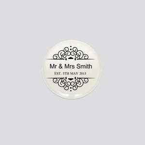 Custom Couples Name and wedding date Mini Button
