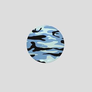 Light Blue Army Camo Mini Button