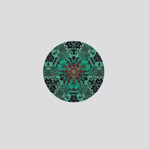 rustic bohemian damask pattern Mini Button