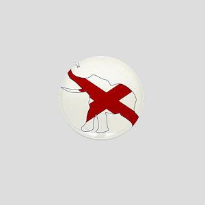 Alabama Republican Elephant Flag Mini Button