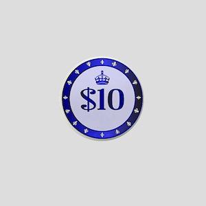 10 Dollar Chip Mini Button