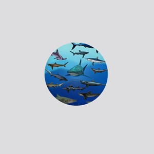 Shark Gathering Mini Button