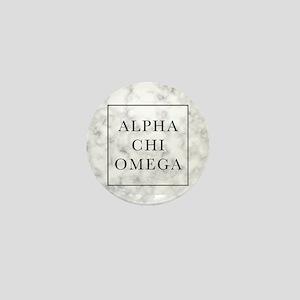 Alpha Chi Omega Marble FB Mini Button