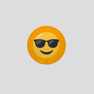 Sunglasses Emoji Mini Button