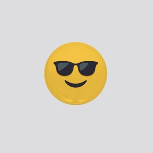 Sunglasses Emoji Face Mini Button