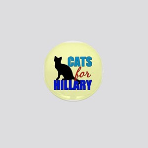 Cats for Hillary Mini Button