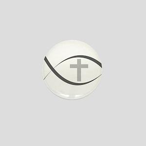 jesus fish_reverse Mini Button