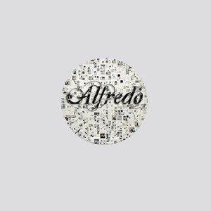 Alfredo, Matrix, Abstract Art Mini Button