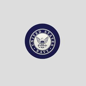 US Navy Emblem Blue White Mini Button