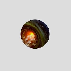Wormhole event, computer artwork Mini Button