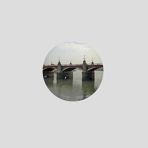Newport Bridge crosses the River Usk a Mini Button