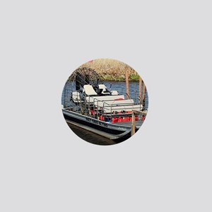 Florida swamp airboat Mini Button