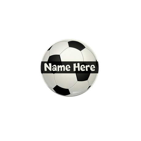 Personalized Soccer Ball Mini Button By Cutetshirtsgift