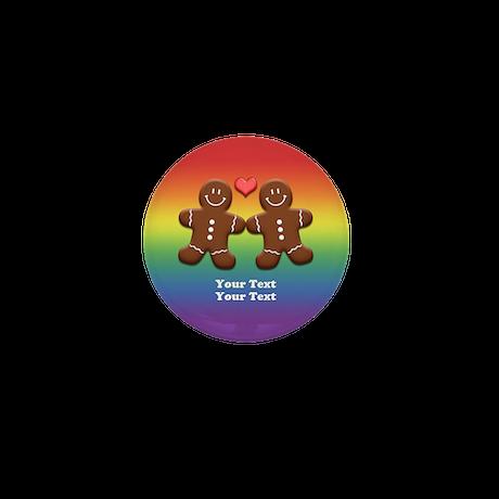 Personalize Gingerbread Men Couple Rainbow Mini Bu