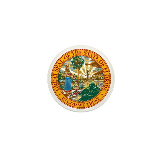 Great Seal Of Florida Mini Button By Boogeyman Cafepress