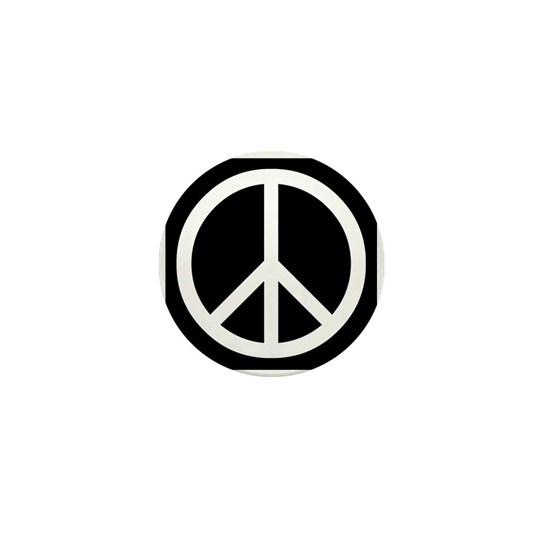 White Peace Sign
