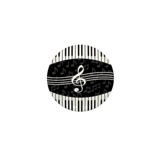 cd3821243c4b Stylish designer piano and music notes Mini Button