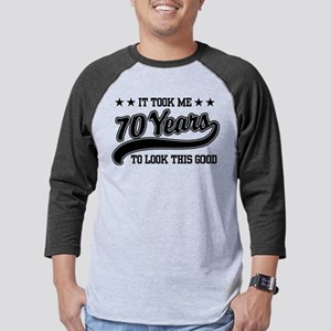 Funny 70th Birthday Baseball Jersey