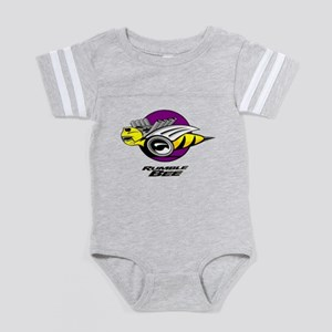 Rumble Bee blk png Baby Football Bodysuit