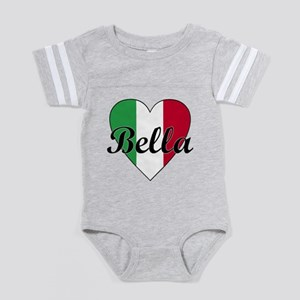 BellaItalianHeart Baby Football Bodysuit