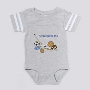 Personalized Sports Baby Football Bodysuit