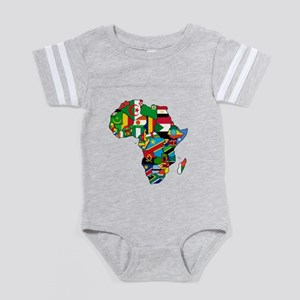 b04d1f8812f91 African Baby Football Bodysuits - CafePress