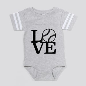 Love Baseball Baby Football Bodysuit