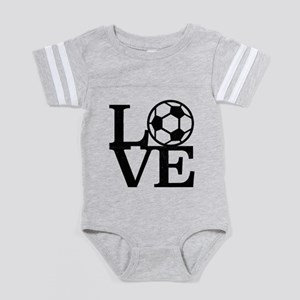 Love Soccer Baby Football Bodysuit