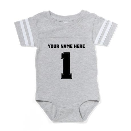 Number One Player Personali Baby Football Bodysuit