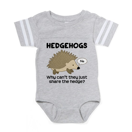 3be51d05519e Hedgehog Pun Baby Football Bodysuit by CafePets - CafePress