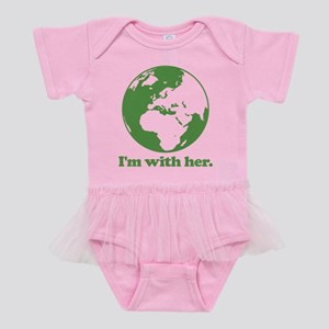 I'm With Her Baby Tutu Bodysuit