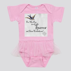 His Eye Is On The Sparrow Large Baby Tutu Bodysuit