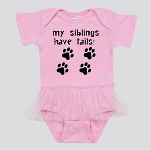 My Siblings Have Tails Baby Tutu Bodysuit