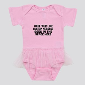 86b305d0e Customize Four Line Message Baby Tutu Bodysuit