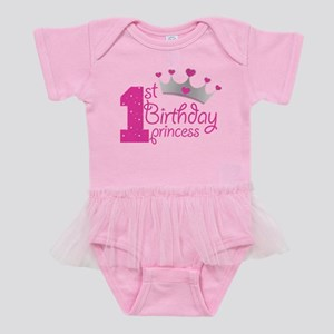 1st Birthday Princess Baby Tutu Bodysuit