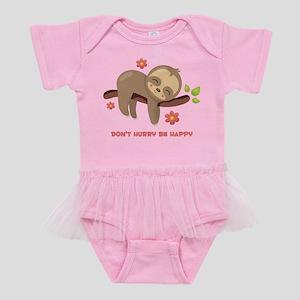 Don't Hurry Sloth Baby Tutu Bodysuit