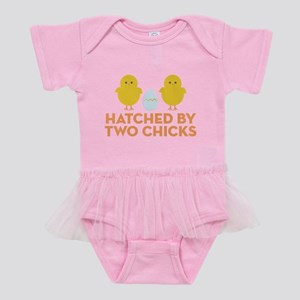 Hatched By Two Chicks Baby Tutu Bodysuit