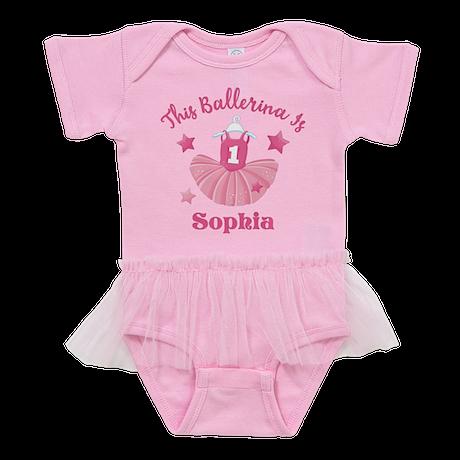 Ballerina 1st Birthday PD Baby Tutu Bodysuit