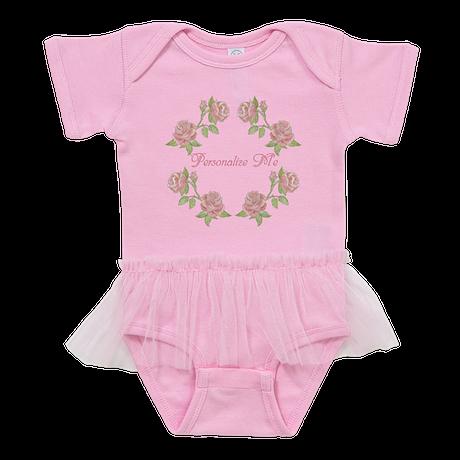Personalized Rose Baby Tutu Bodysuit