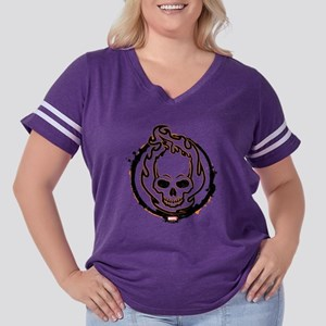 Ghost Rider Log Women's Plus Size Football T-Shirt